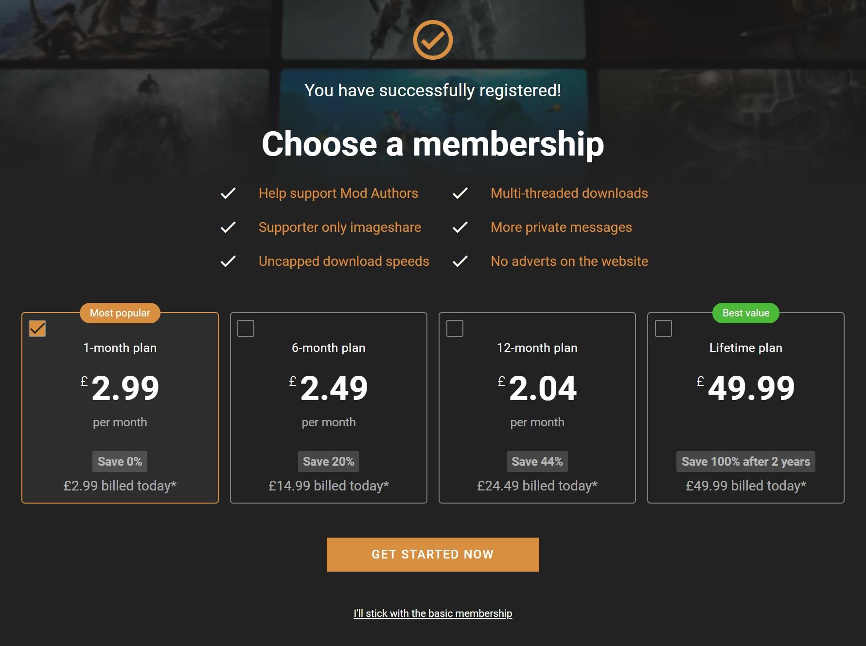 NEXUS_MODS-ユーザーメンバーシップ価格情報