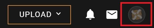 NEXUS_MODS-ユーザーアカウントのアイコンボタン